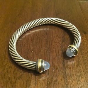 David Yurman Blue Chalcedony Cable Bracelet